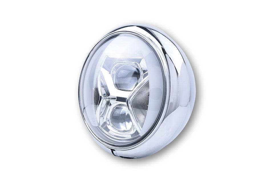 highsider Faro delantero LED de 7 pulgadas HD-STYLE TYPE 8 con TFL, luz de curvas
