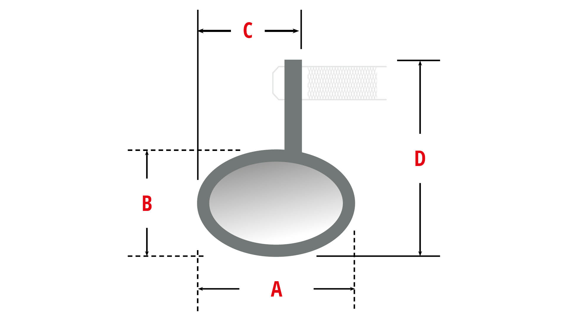 highsider CONERO 2 BLACK EDITION espejo final de manillar, corto, pieza