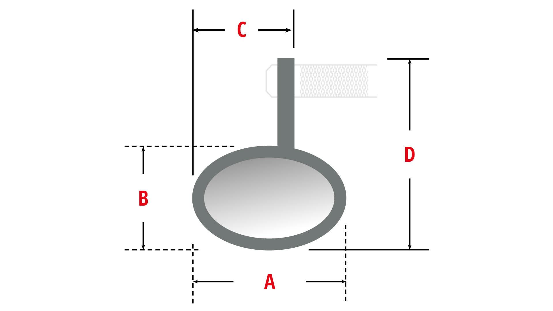 highsider Retrovisor frontal del manillar ACTION