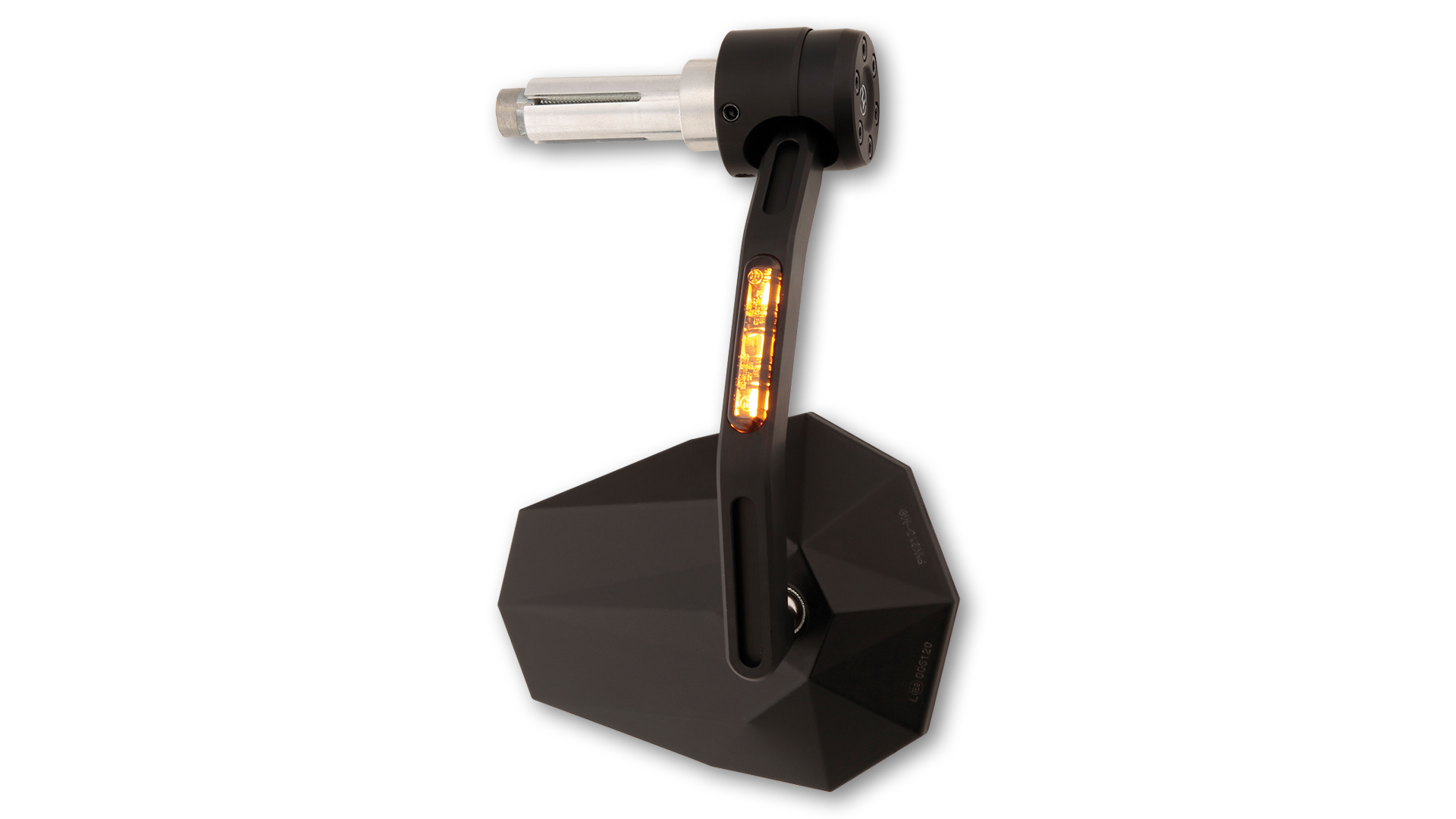 highsider Espejo final de manillar STEALTH-X7 con intermitentes LED